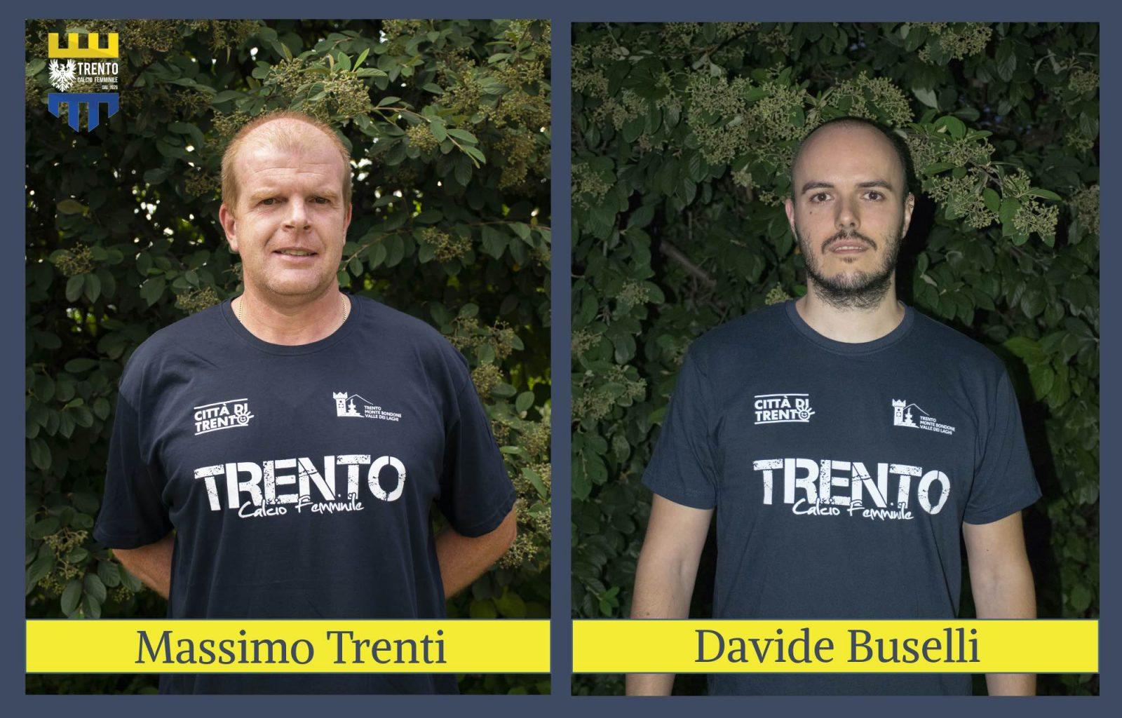 Massimo Trenti e Davide Buselli_ACF Trento calcio femminile