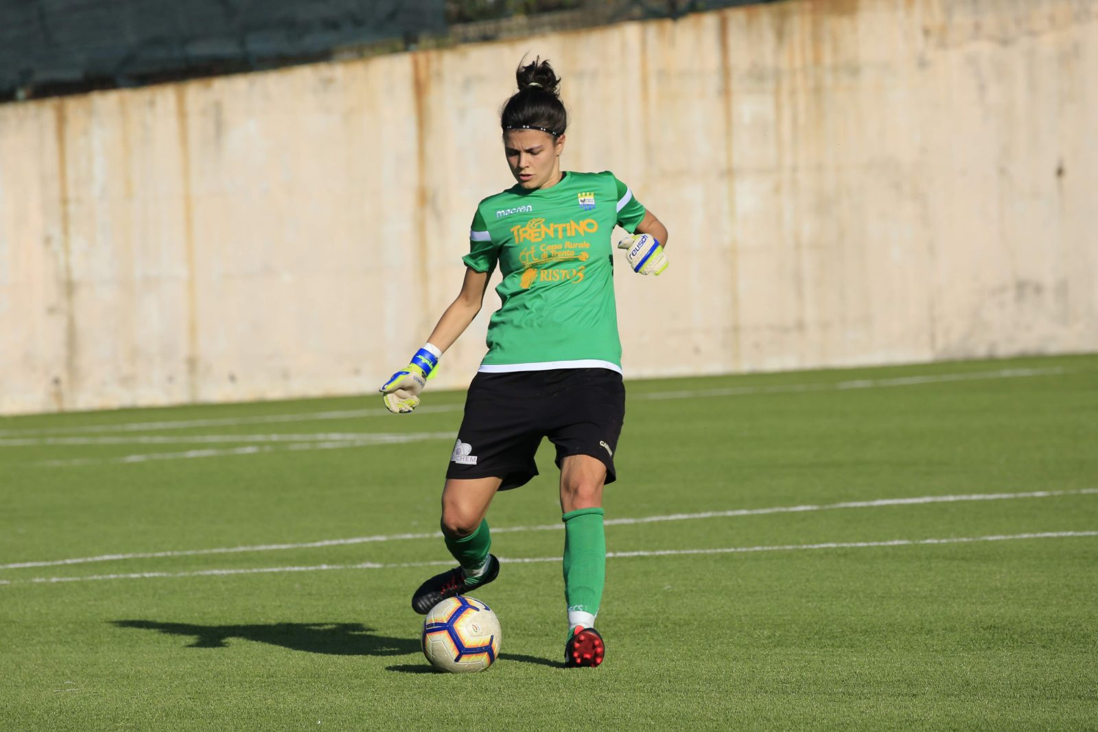 Chiara Valzolgher_Trento calcio femminile_campo di Mattarello