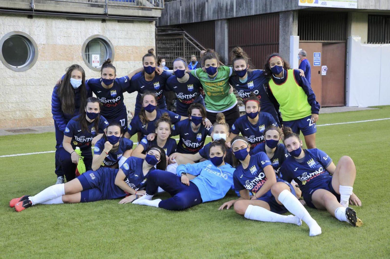 Vittoria del Trento calcio femminile che batte la Triestina 2-1