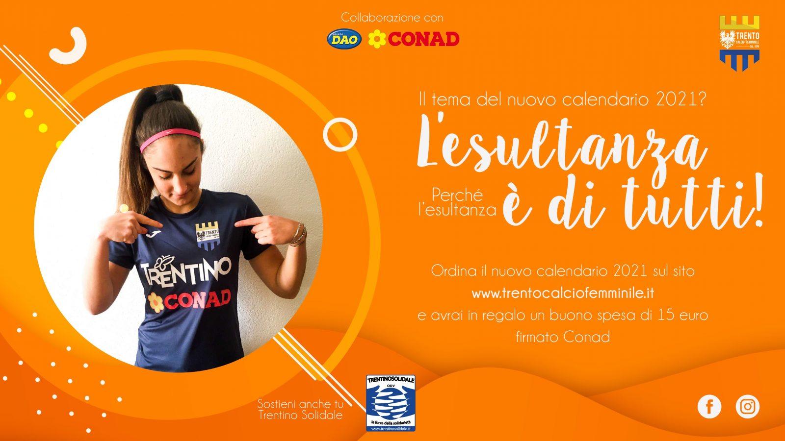 Matilde Fuganti_calendario 2021 del Trento Calcio Femminile
